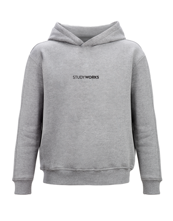 hoodie grey front view